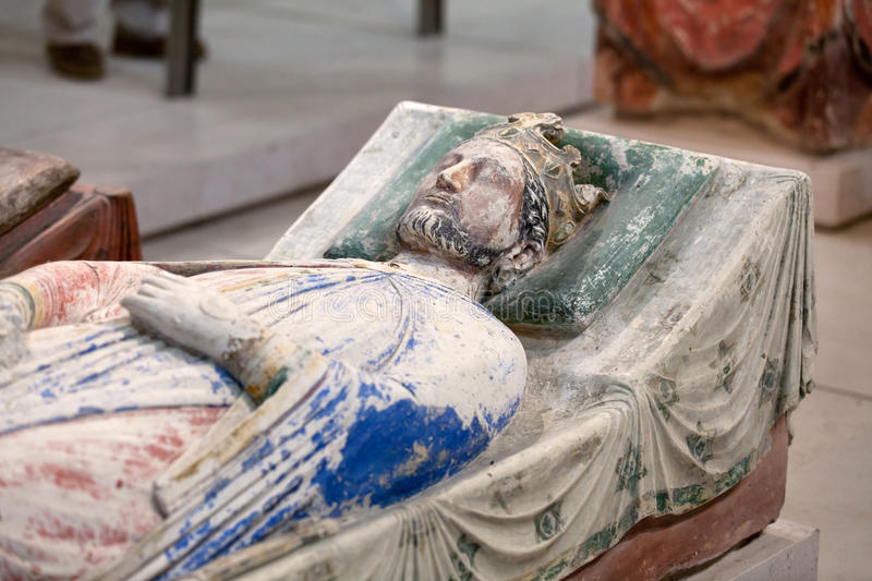Tomb of Richard the Lionheart. And Isabella of Angouleme in Fontevraud Abbey - Loire Valley , France stock photo