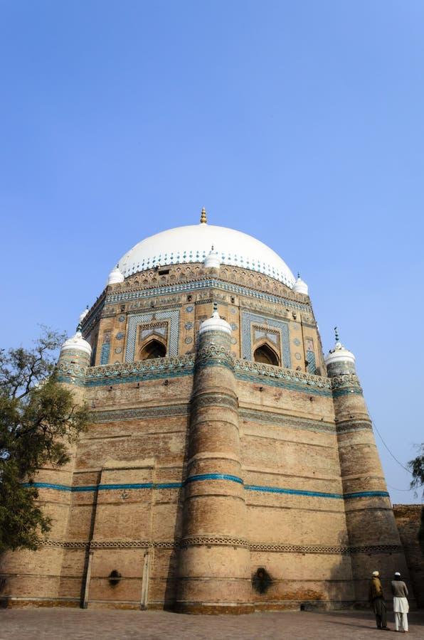 Tomb of Shah Rukn-e-Alam Multan stock photo