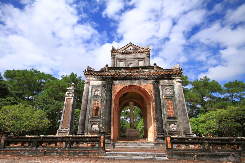 Tomb of Tu Duc stock photo