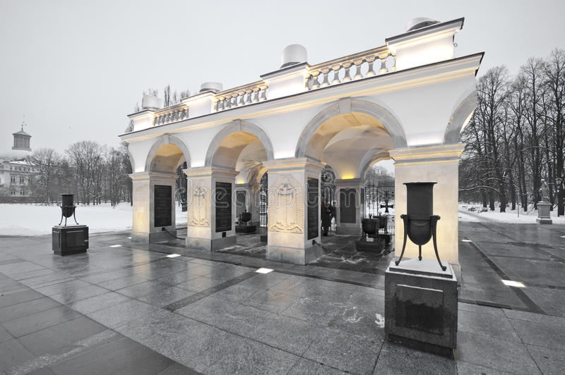 Tomb of the Unknown Soldier in Warsaw royalty free stock images