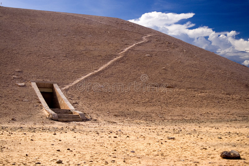 Tomb in Valley of the Kings. Image of the entrance to a tomb in the Valley of the Kings, Egypt royalty free stock photography
