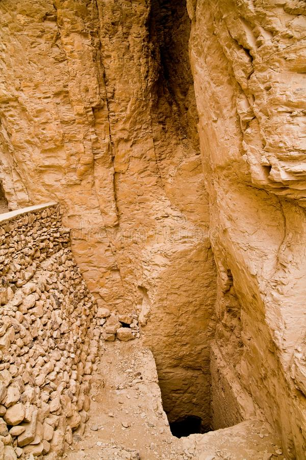 Tomb in the Valley of the Kings. Egypt royalty free stock images