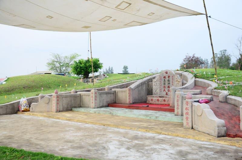 Tomba cinese al tempo di festival di Qingming in Ratchaburi Tailandia fotografia stock