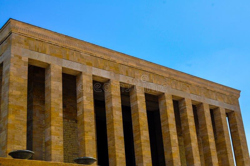 Tomba commemorativa a Ankara fotografia stock libera da diritti