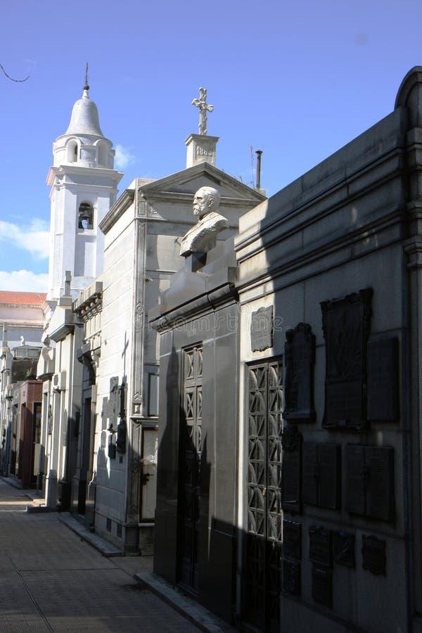 Tomba del cimitero di Buenos Aires fotografia stock libera da diritti