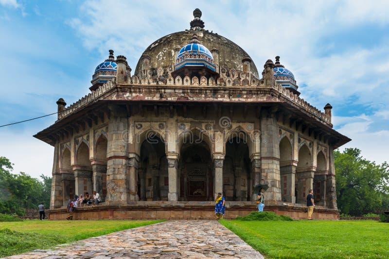 Tomba del giardino del ` s di Isa Khan, Delhi immagine stock libera da diritti