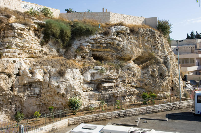 Tomba del giardino a Gerusalemme immagine stock libera da diritti
