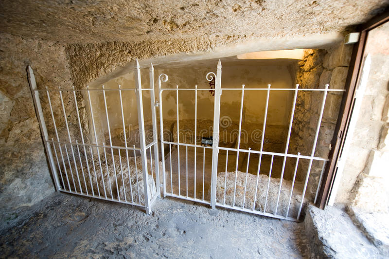 Tomba del giardino a Gerusalemme immagine stock