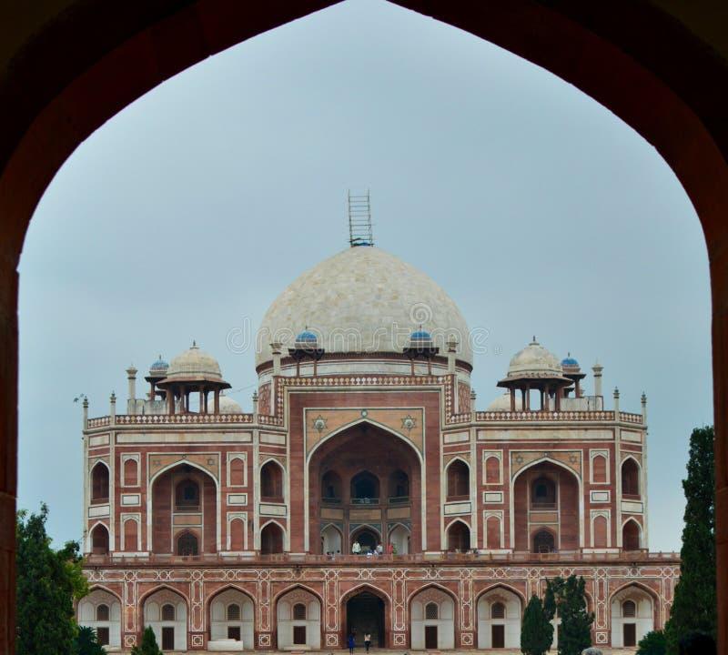 Tomba del Humayun delhi L'India immagine stock libera da diritti