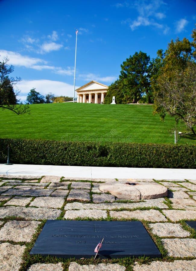 Tomba del Kennedy - cimitero nazionale di Arlington fotografia stock