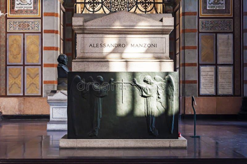 Tomba del ` s di Alessandro Manzoni immagini stock libere da diritti