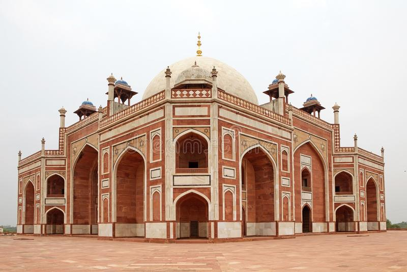 Tomba del ` s di Humayun, Delhi, India immagine stock libera da diritti