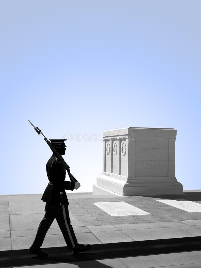 Tomba del soldato sconosciuto, cimitero nazionale di Arlington immagine stock libera da diritti