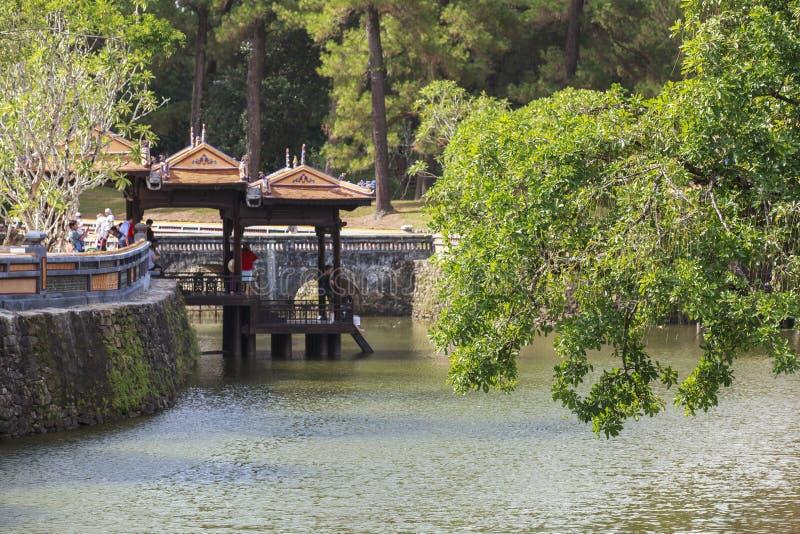 Tomba dell'imperatore Tu Duc nella tonalità, Vietnam fotografie stock libere da diritti