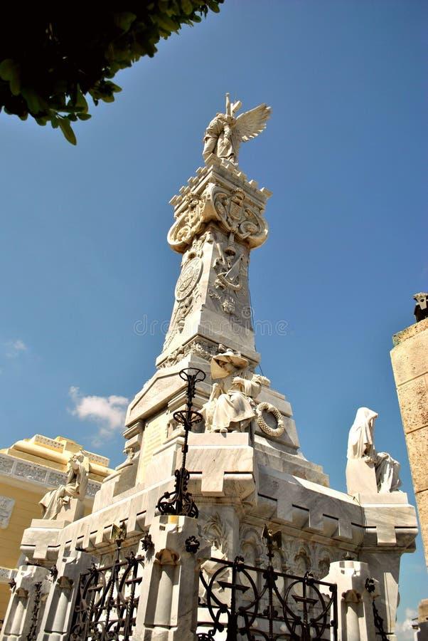 Tomba della necropoli Cristobal Colon immagine stock