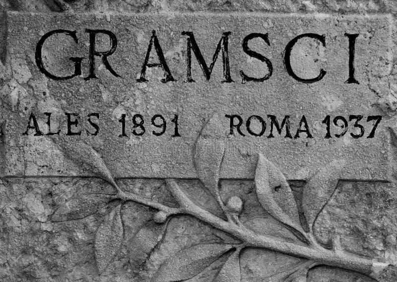 Tomba di Antonio Gramsci immagine stock libera da diritti