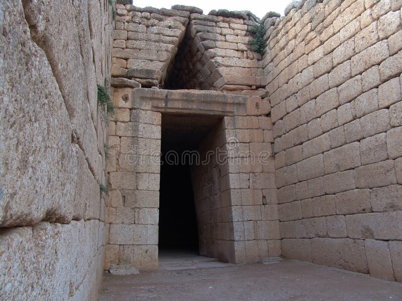 Tomba di Atreus Tholos fotografia stock libera da diritti