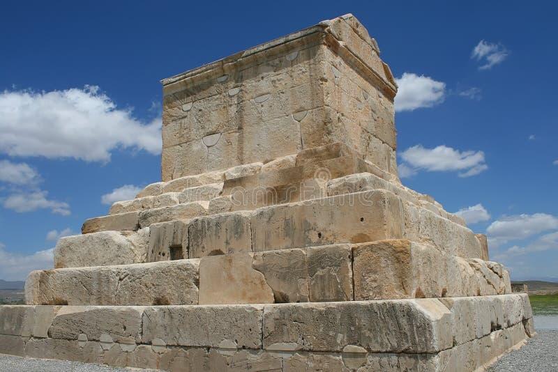 Tomba di Cyrus il grande Persepolis vicino fotografia stock libera da diritti