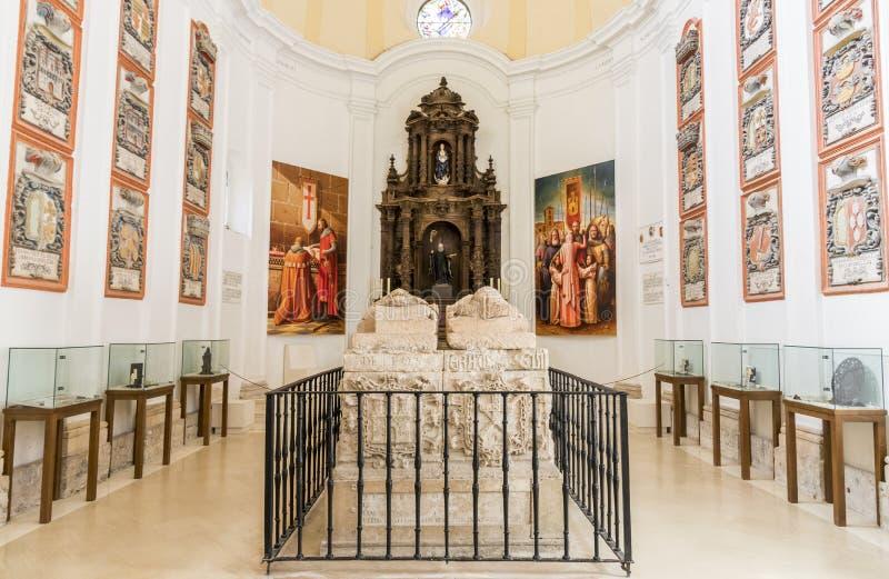 Tomba di El Cid e della sua famiglia fotografia stock