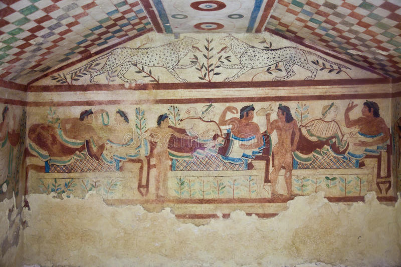 Tomba di Etruscan fotografia stock