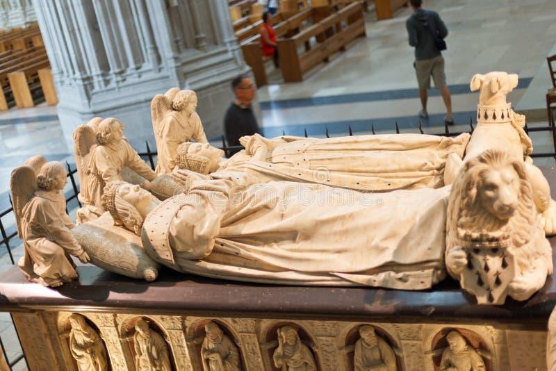 Tomba di Francis II, duca di Bretagna, Nantes immagine stock
