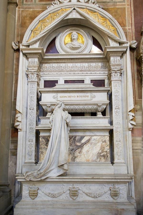 Tomba di Gioachino Antonio Rossini a Firenze fotografia stock