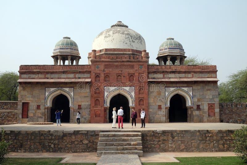 Tomba di Isa Khan, complesso della tomba di Humayuns, Delhi immagini stock libere da diritti