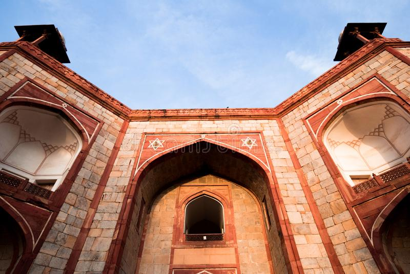 Tomba di Isa Khan a Delhi, India immagine stock libera da diritti