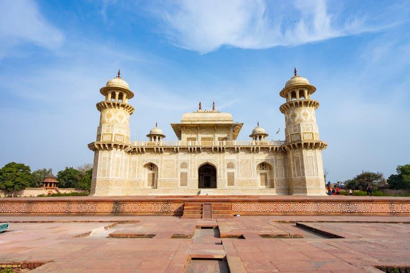Tomba di Itmad-ud-Daula, Agra, India fotografia stock