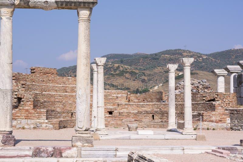 Tomba di John l'apostolo alla basilica di St John Rovine della città antica di Ephesus vecchie, Turchia immagine stock libera da diritti
