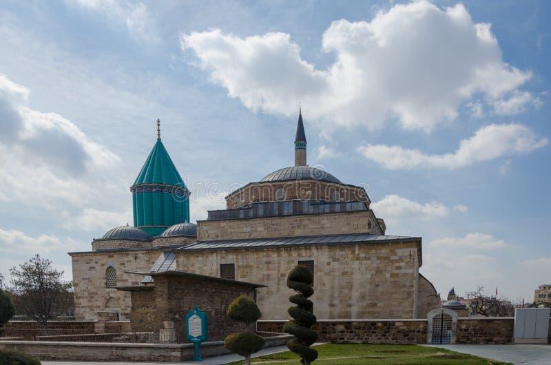 Tomba di Mevlana e moschea del museo in Konya, Turchia, fotografia stock