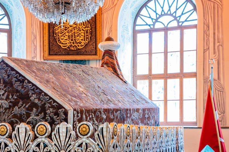 Tomba di Osman Gazi, mausoleo a Bursa, Turchia immagine stock