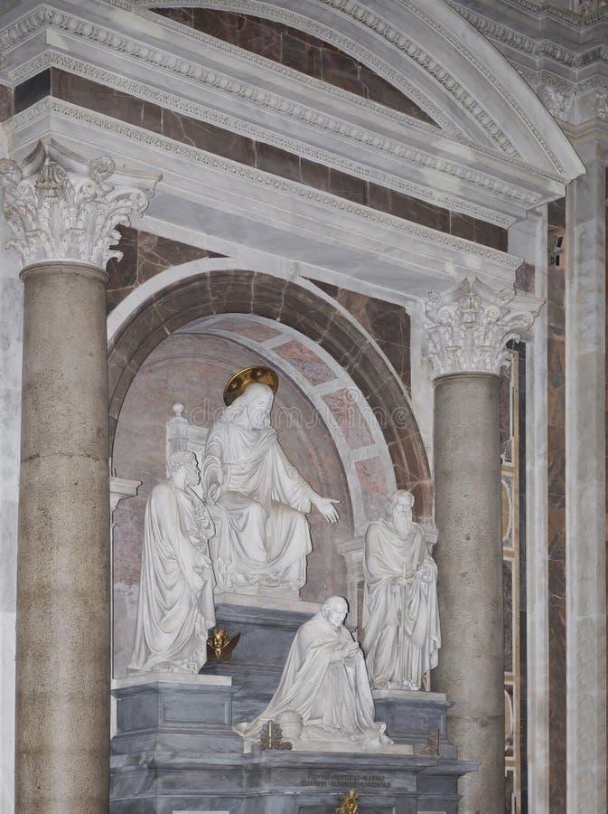 Tomba di papi Pio VIII fotografia stock libera da diritti
