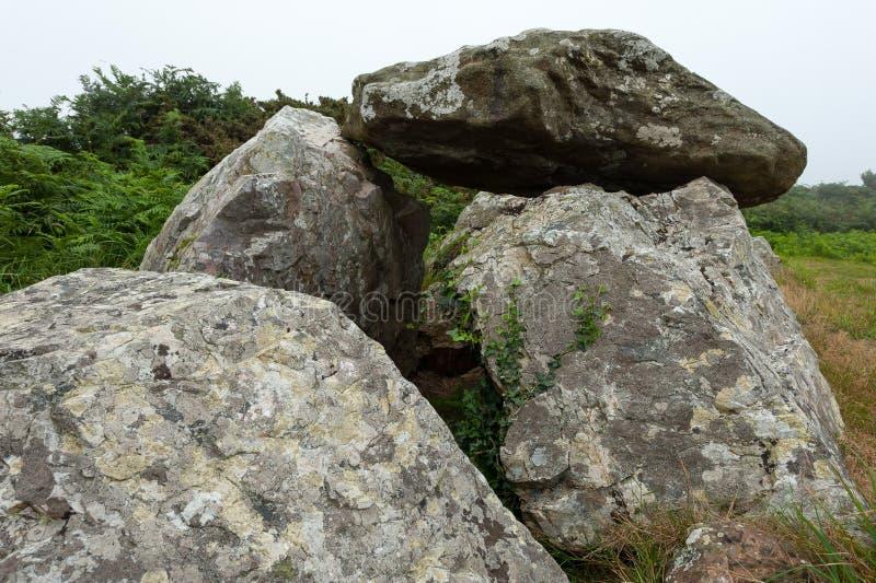 Tomba di pietra celtica antica in Normandia Francia immagine stock libera da diritti