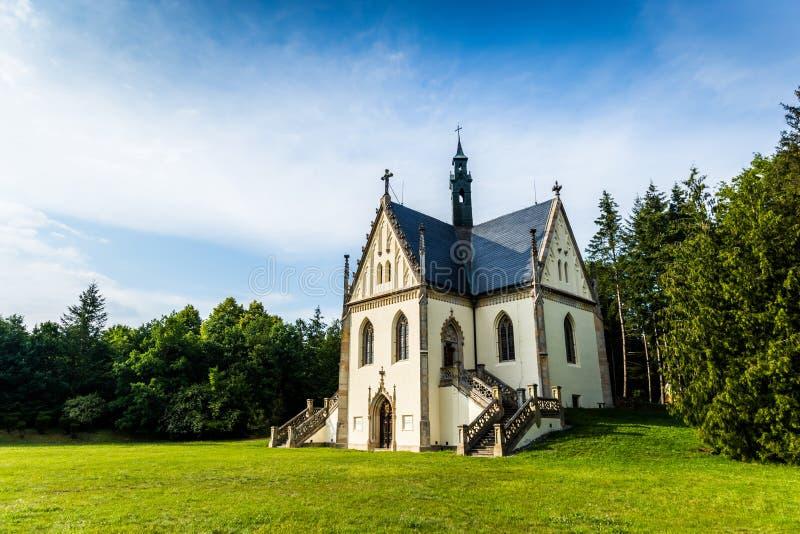 Tomba di Schwarzenberg vicino al castello Orlik - repubblica Ceca immagine stock