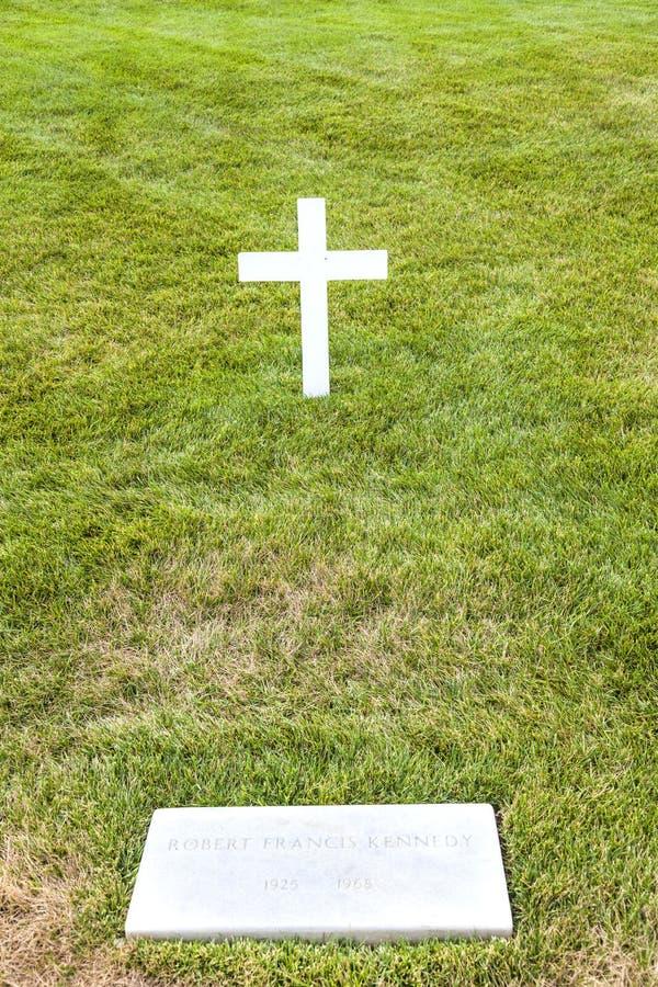 Tomba modesta di Robert Kennedy immagine stock