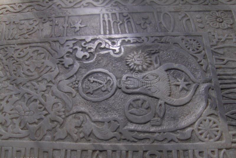 Tomba nel monastero di Sucevita, Moldavia, Romania fotografia stock