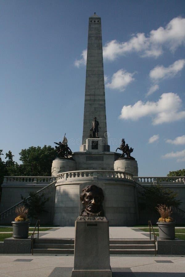 Tomba Springfield Illinois di Abraham Lincoln fotografia stock libera da diritti