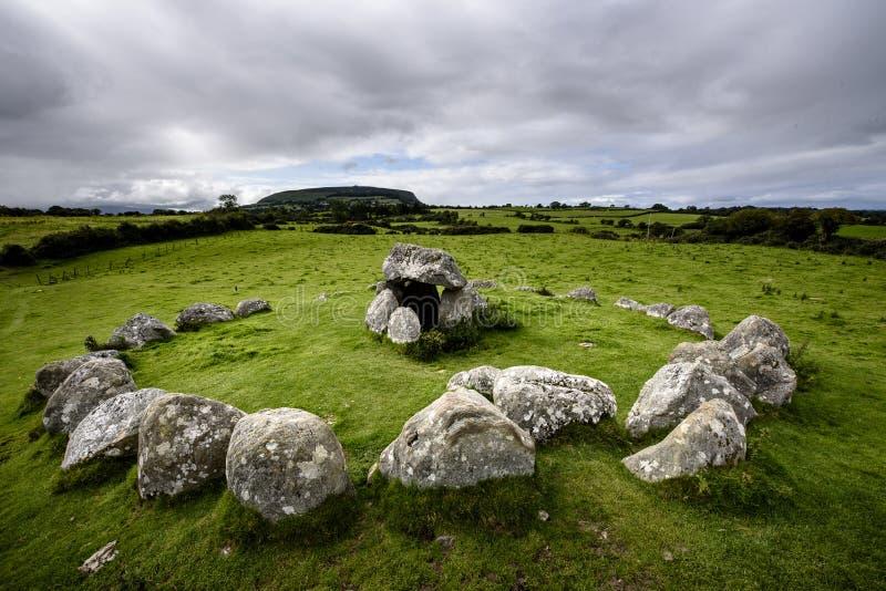 Tombe 7 Carrowmore Megalityczny cmentarz zdjęcie royalty free