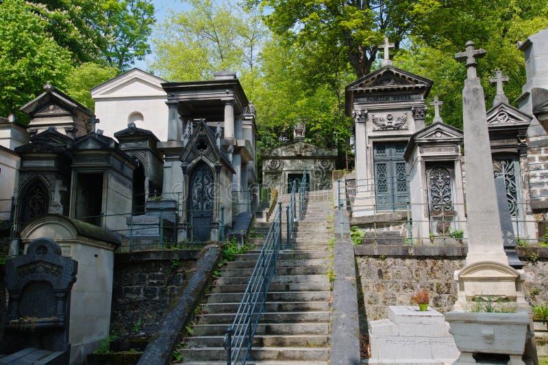 Tombe Cimetiere du Pere Lachaise fotografie stock