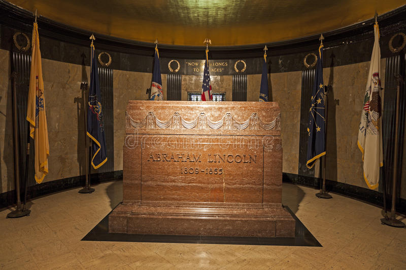 Tombe d'Abraham Lincoln photographie stock