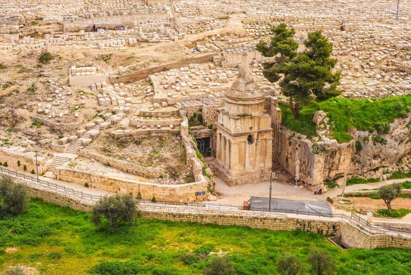 Tombe d'Absalom en vallée Cédron, Jérusalem, Israël image stock
