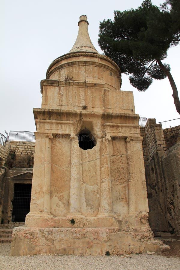 Tombe d'Absalom. Jérusalem. Israël photos libres de droits