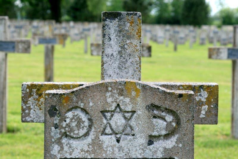 Tombe d'un soldat juif, France photo libre de droits