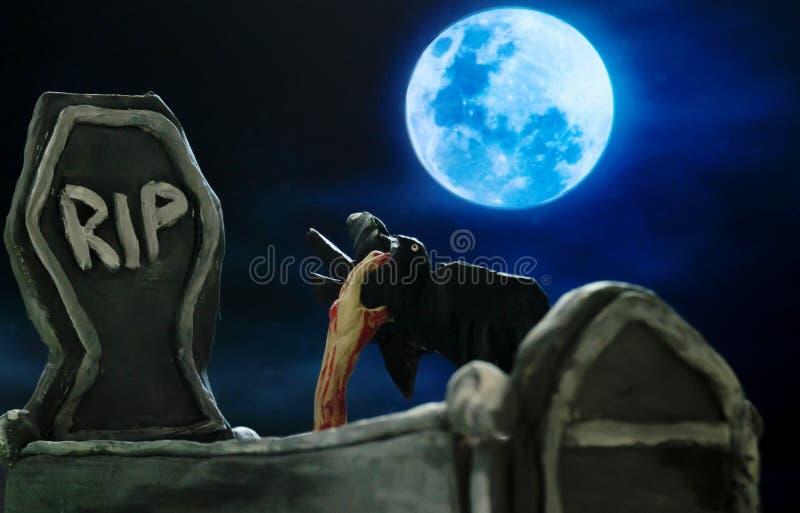 Tombe dans Halloween image libre de droits