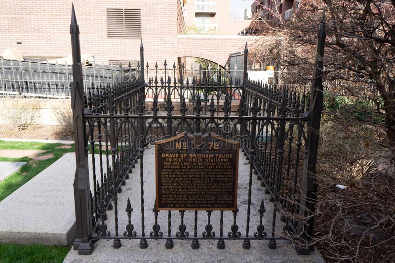 Tombe de Brigham Young, président de LDS, la tombe de l'église mormone images stock