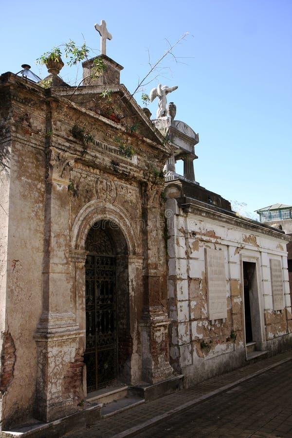 Tombe de cimetière de Buenos Aires images libres de droits