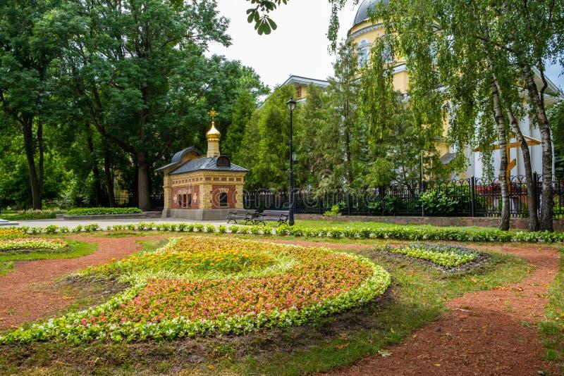 Tombe de famille de Paskeviches en parc de ville de Gomel images libres de droits