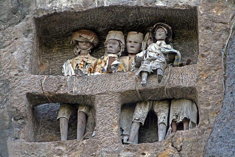 Tombe de famille de Toraja image libre de droits