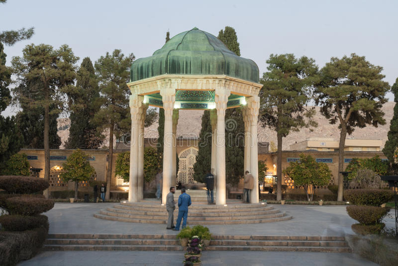Tombe de Hafez après l'obscurité photo libre de droits